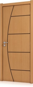 Folha de Porta  Frisada Semi-Sólida 2,10x0,80