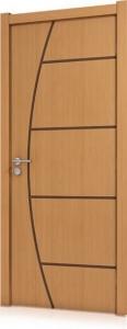 Folha de Porta  Frisada Semi-Sólida 2,10x0,82